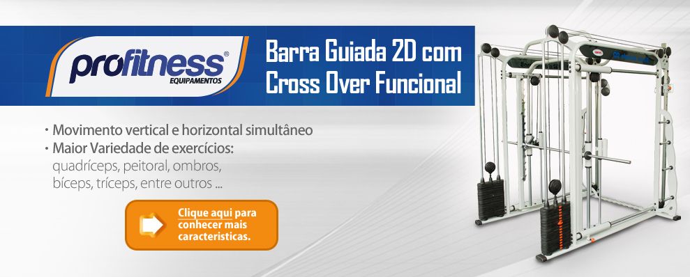 Barra Guiada 2D com Cross Over Funcional